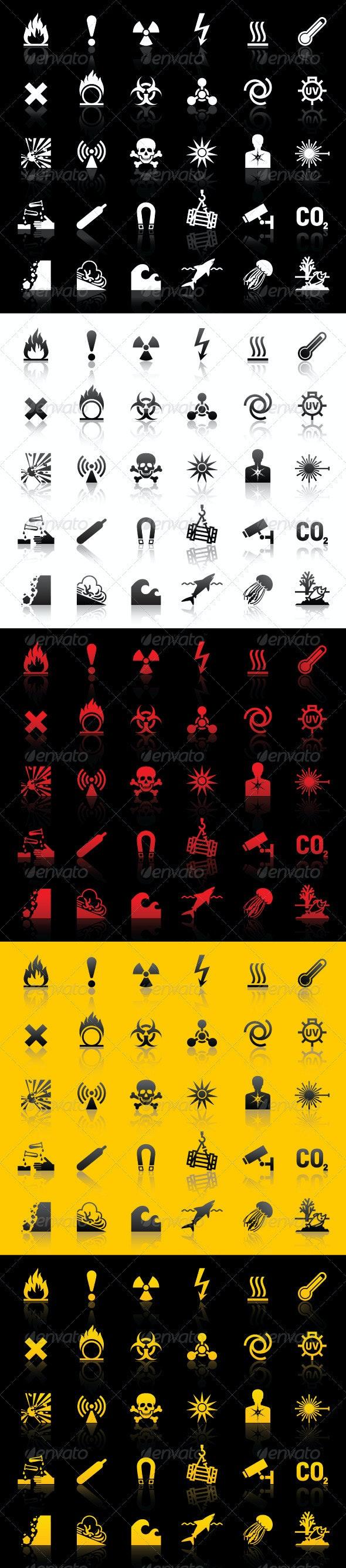 Symbols - Hazard warnings