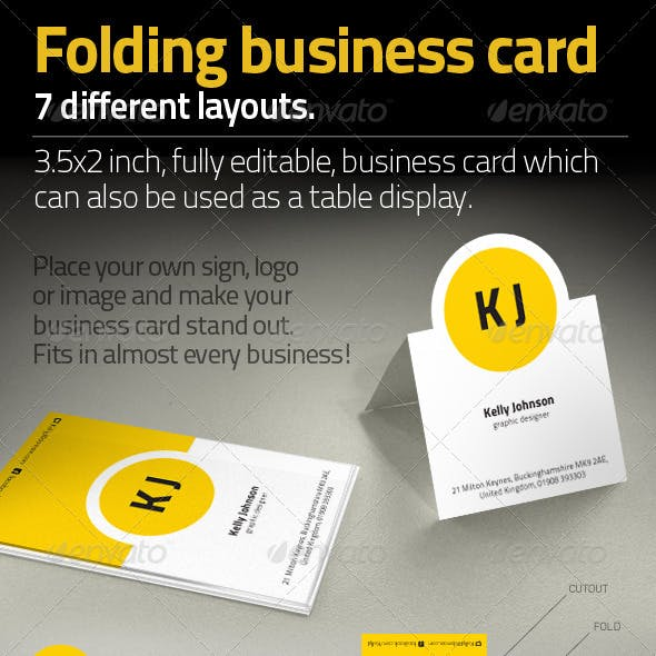 Folded Business Card Templates Designs From Graphicriver