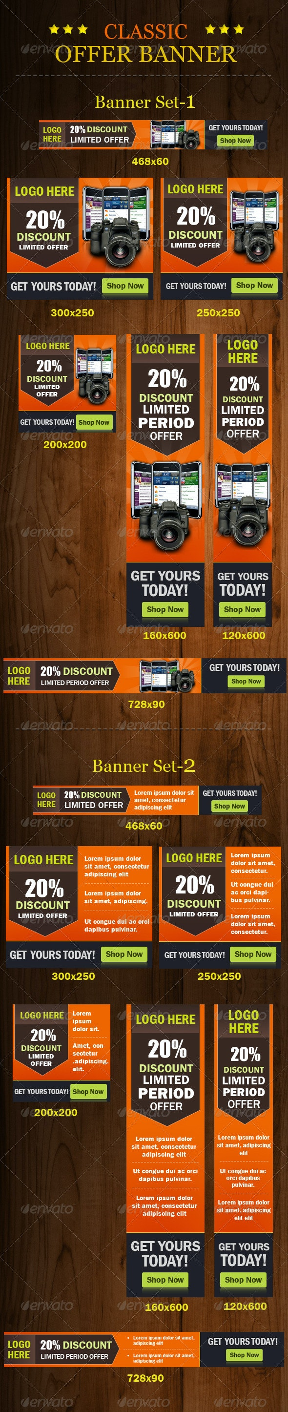 Classic Offer Banner - Banners & Ads Web Elements