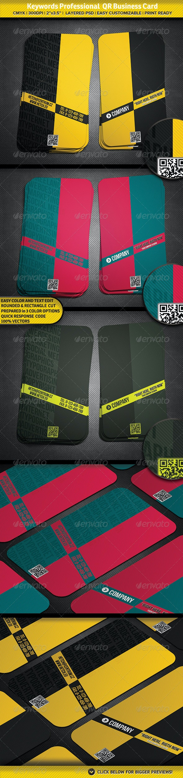 Keywords Professional QR Business Card - Creative Business Cards