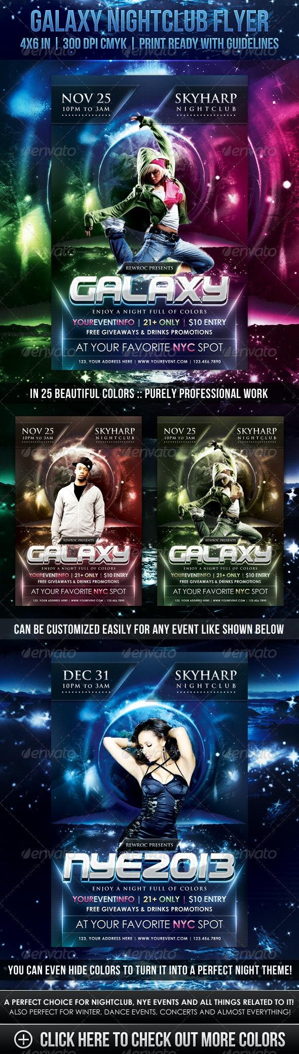 Galaxy Nightclub Flyer - Clubs & Parties Events