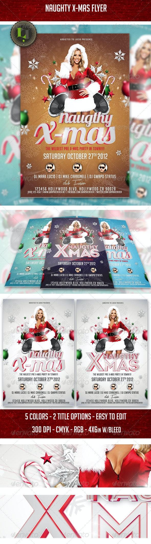 Naugthy X Mas Flyer  - Holidays Events