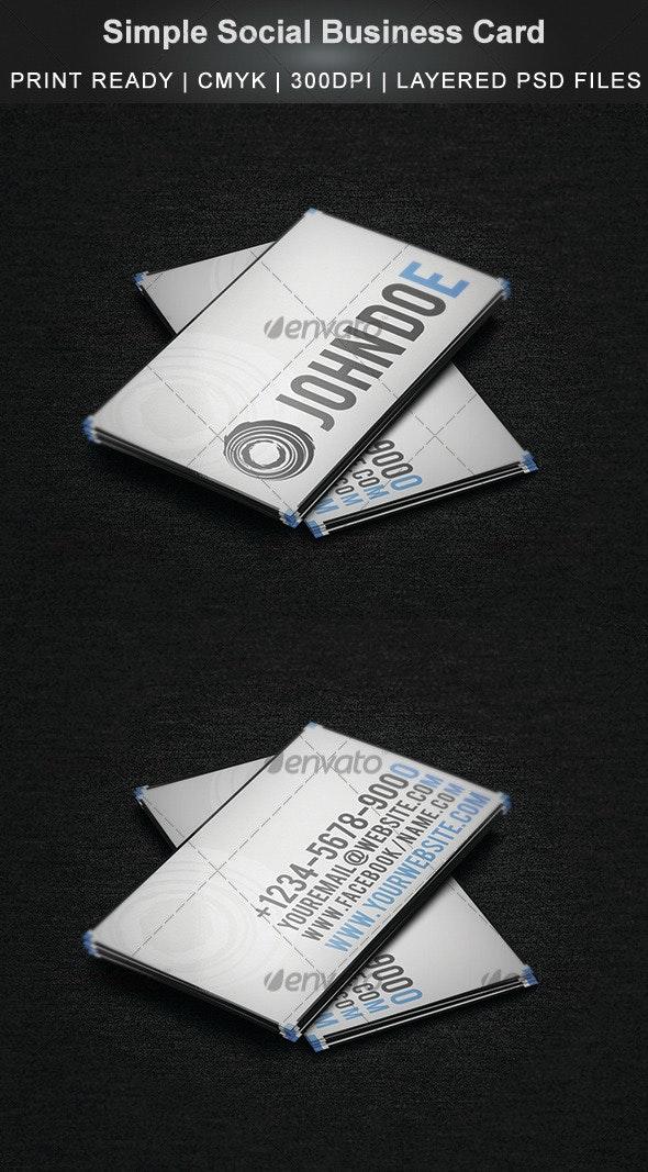 Simple Social Business Card - Creative Business Cards