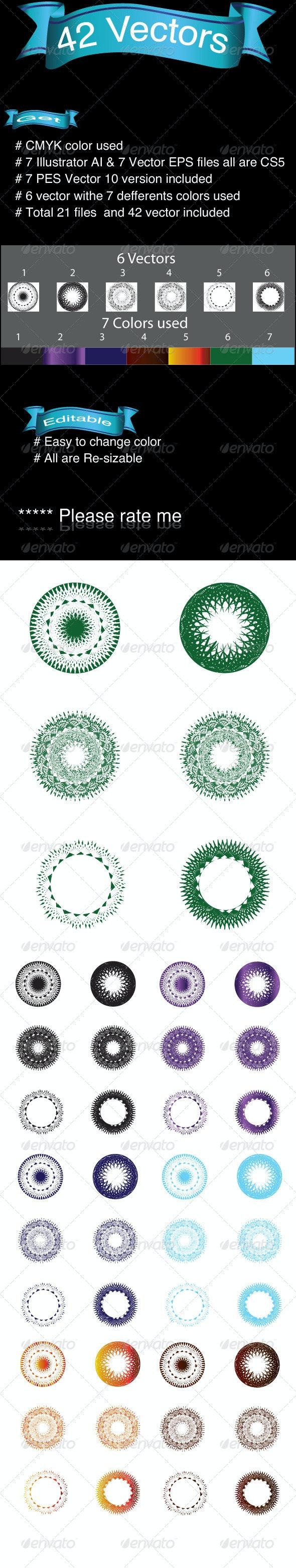 42 Vectors - Flourishes / Swirls Decorative