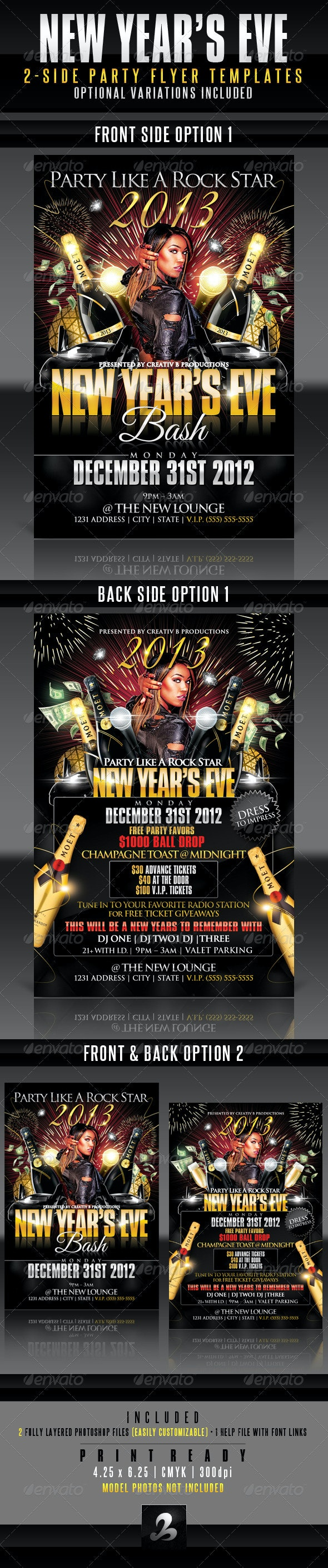 New Year's Eve Party Flyer Templates - Clubs & Parties Events