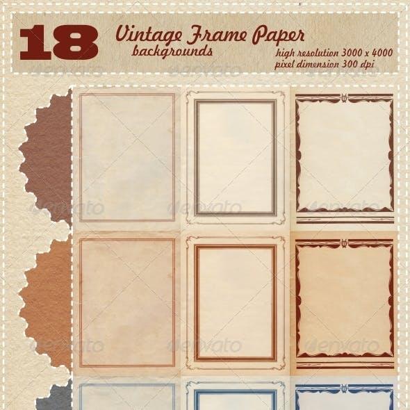 Vintage Frame Paper