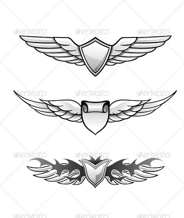 Winged Awards Set - Decorative Symbols Decorative