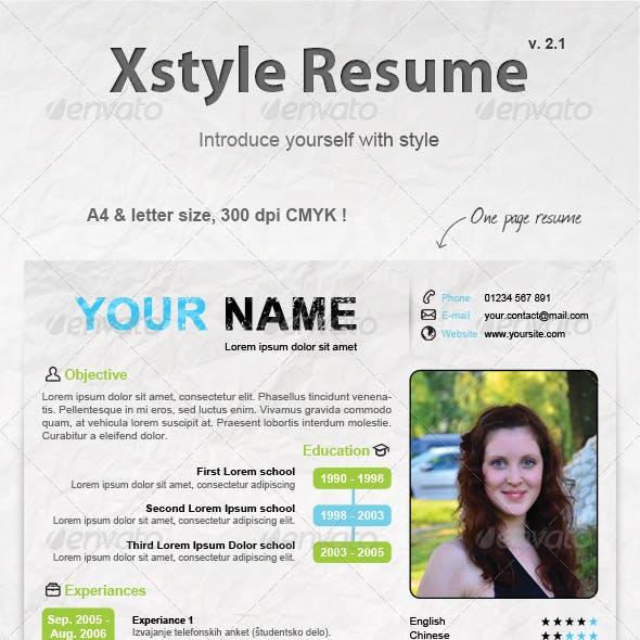 Xstyle Resume