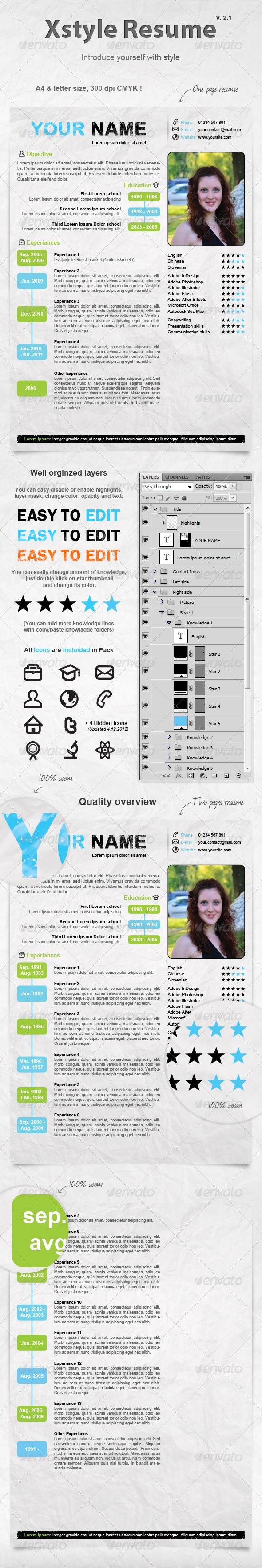 Xstyle Resume - Resumes Stationery