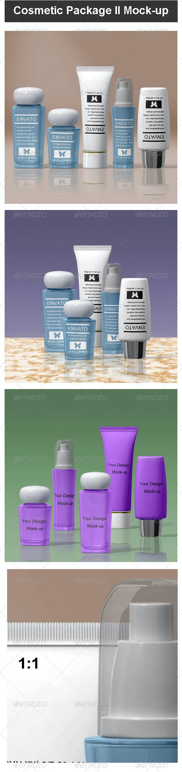 Cosmetic Package II Mock-up - Beauty Packaging