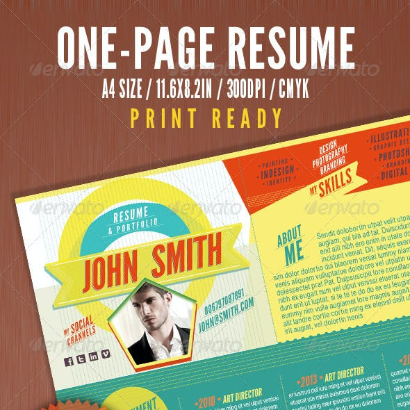 The One Page Resume