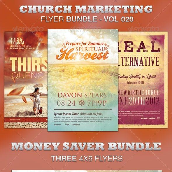 Church Marketing Flyer Bundle-Vol 020