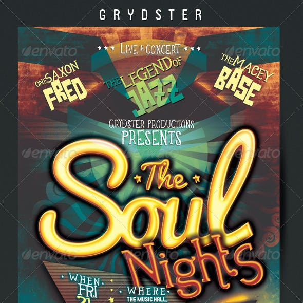 Soul Nights Flyer - Poster