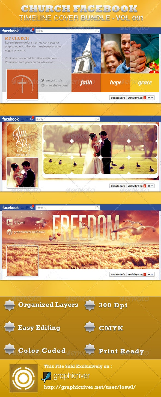 Church FB Timeline Cover Bundle - Facebook Timeline Covers Social Media