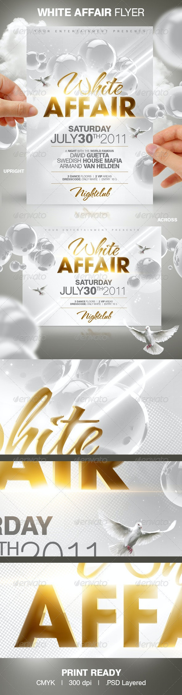 White Affair Party Flyer - Clubs & Parties Events