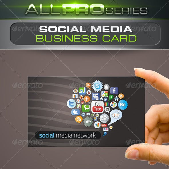 Social Media Network Business Card