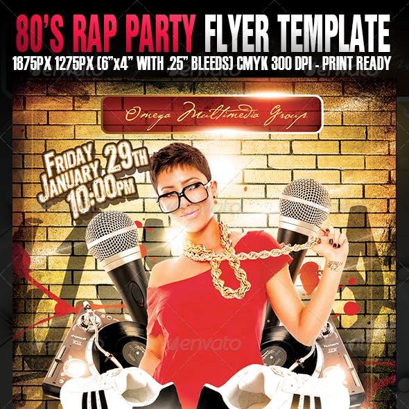 80's Rap Party