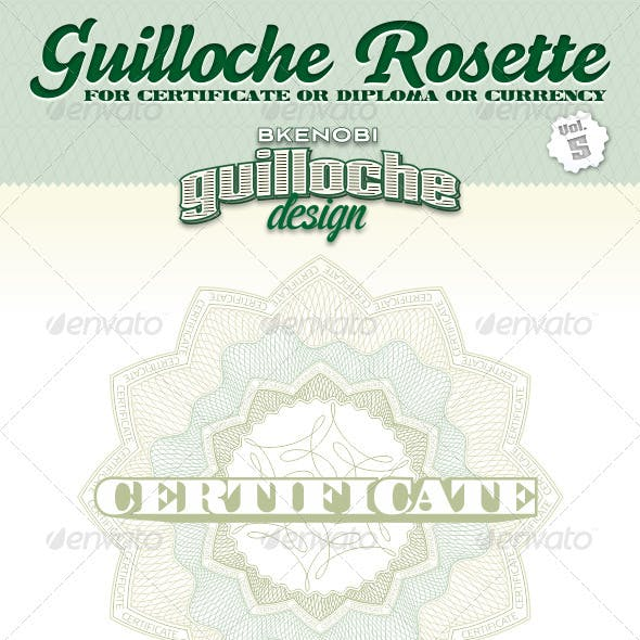 Guilloche Rosette Vol.5