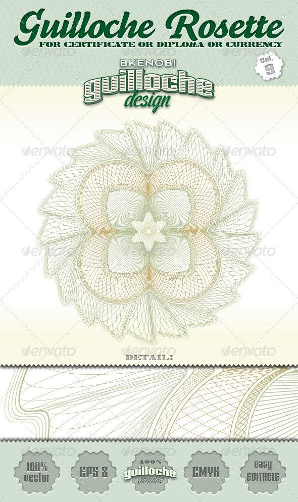 Guilloche Rosette Vol.9 - Decorative Symbols Decorative