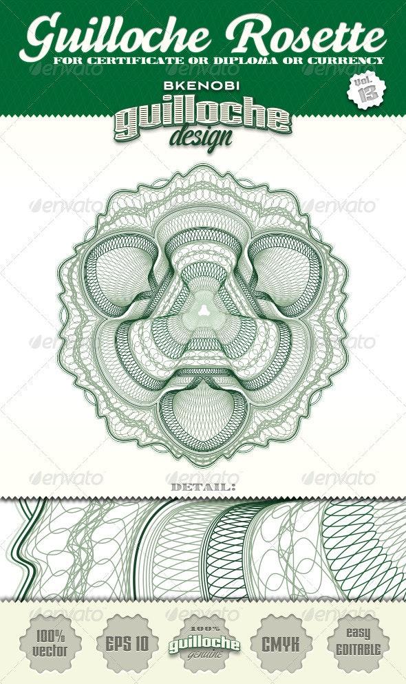 Guilloche Rosette Vol.13 - Decorative Symbols Decorative