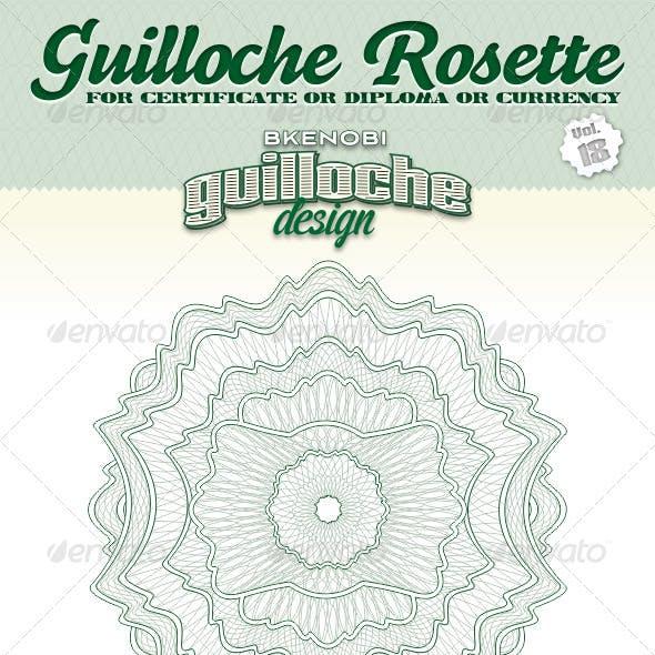 Guilloche Rosette Vol.18