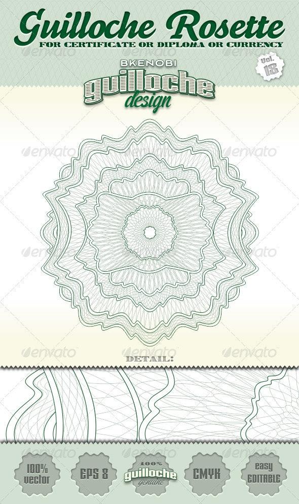 Guilloche Rosette Vol.18 - Decorative Symbols Decorative