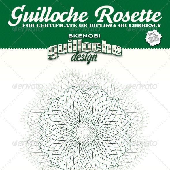 Guilloche Rosette Vol.20