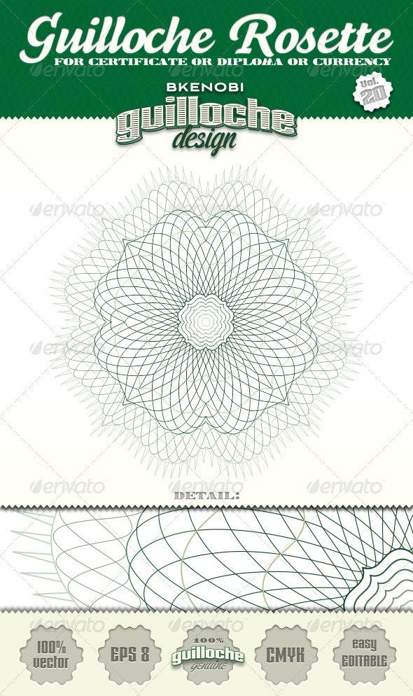 Guilloche Rosette Vol.20 - Decorative Symbols Decorative