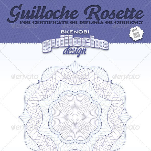 Guilloche Rosette Vol.21
