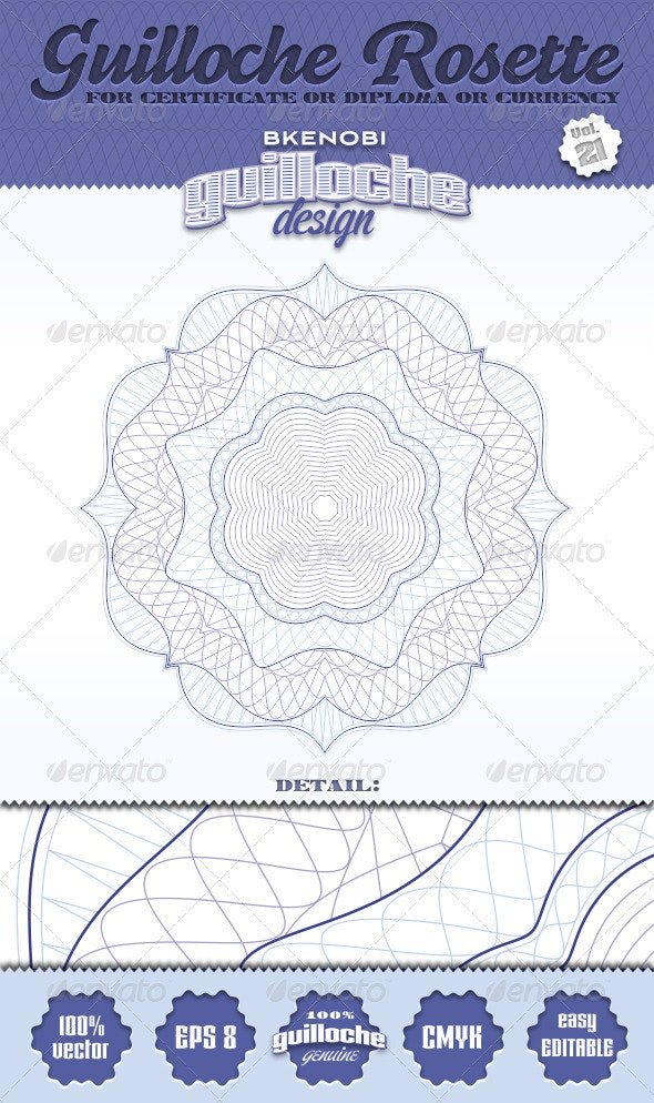 Guilloche Rosette Vol.21 - Decorative Symbols Decorative