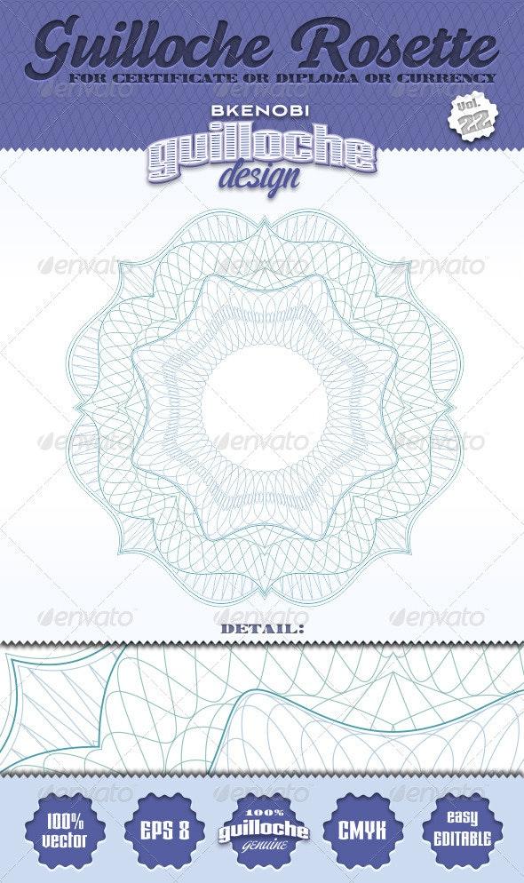 Guilloche Rosette Vol.22 - Decorative Symbols Decorative