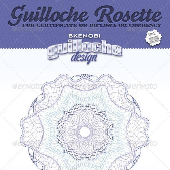 Guilloche Rosette Vol.25
