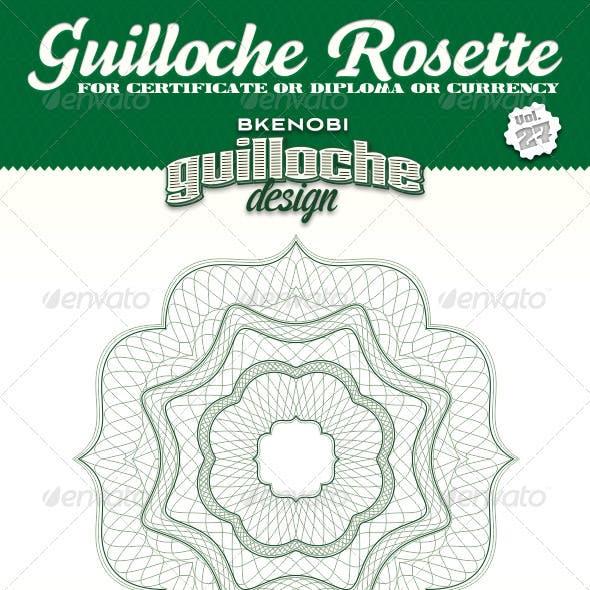 Guilloche Rosette Vol.27
