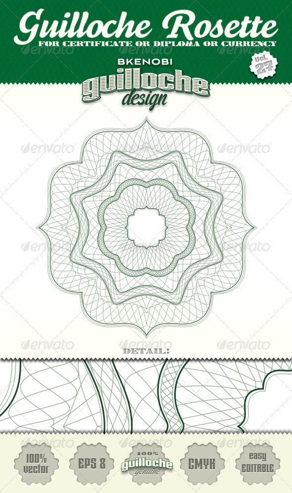 Guilloche Rosette Vol.27 - Decorative Symbols Decorative