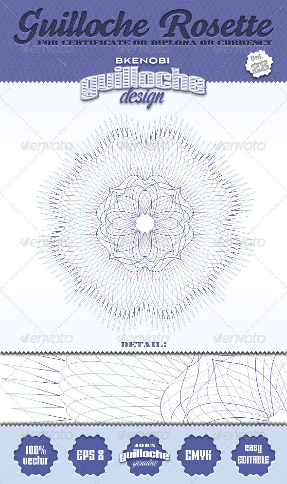 Guilloche Rosette Vol.28 - Decorative Symbols Decorative