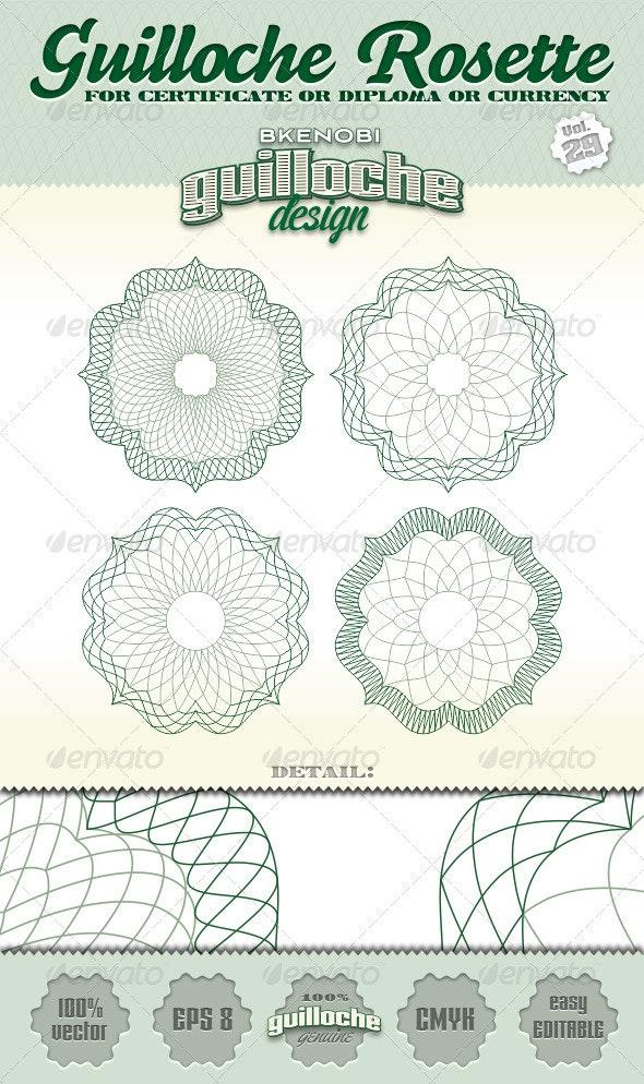 Guilloche Rosette Vol.29 - Decorative Symbols Decorative