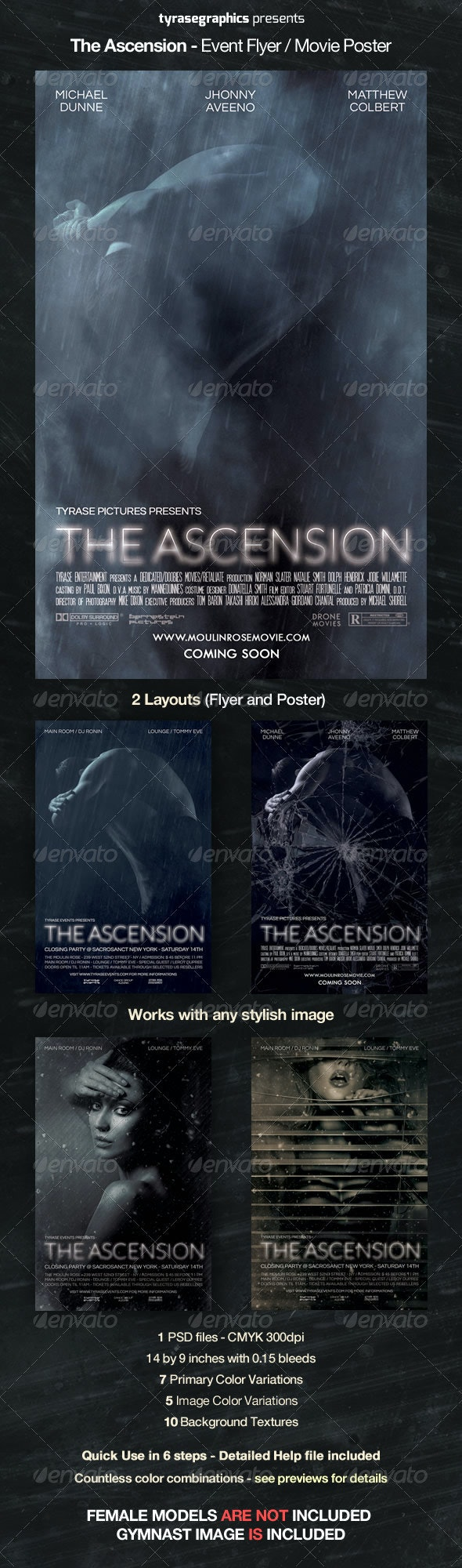 The Ascension - Event Flyer / Movie Poster - Flyers Print Templates
