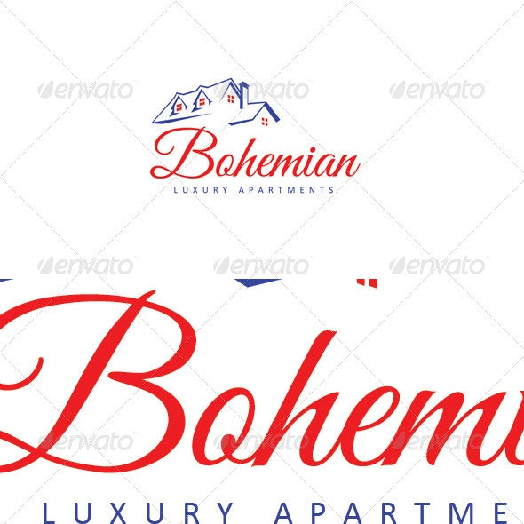 Bohemian Luxury Apartment - Buildings Logo Templates