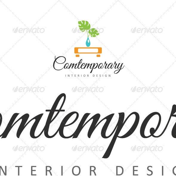 Contemporary Interior Design - Abstract Logo Templates