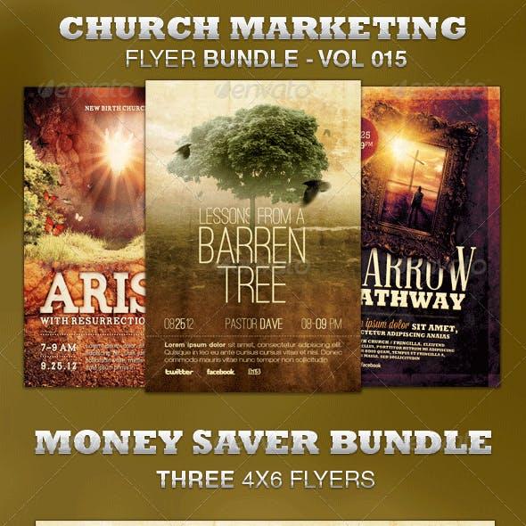Church Marketing Flyer Bundle-Vol 015