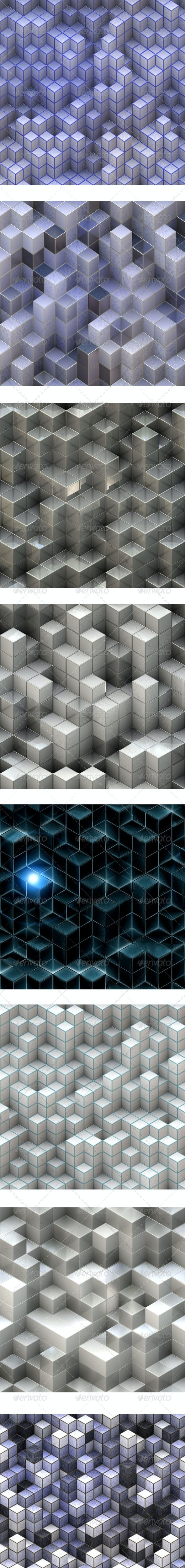 8 Abstract Cubes Backgrounds - Abstract Backgrounds