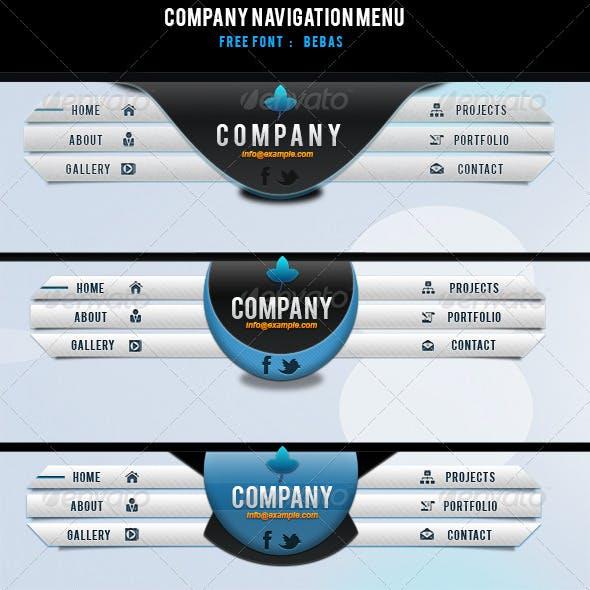 Company Navigation Menu