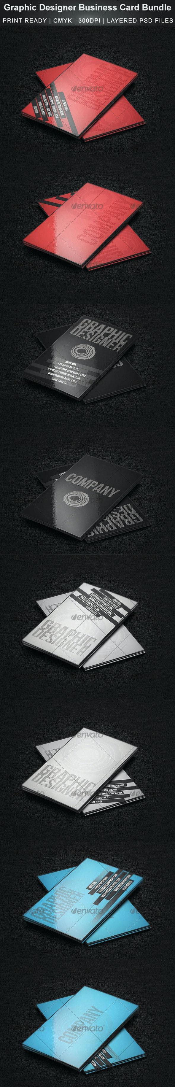 Graphic Designer Business Card Bundle - Creative Business Cards