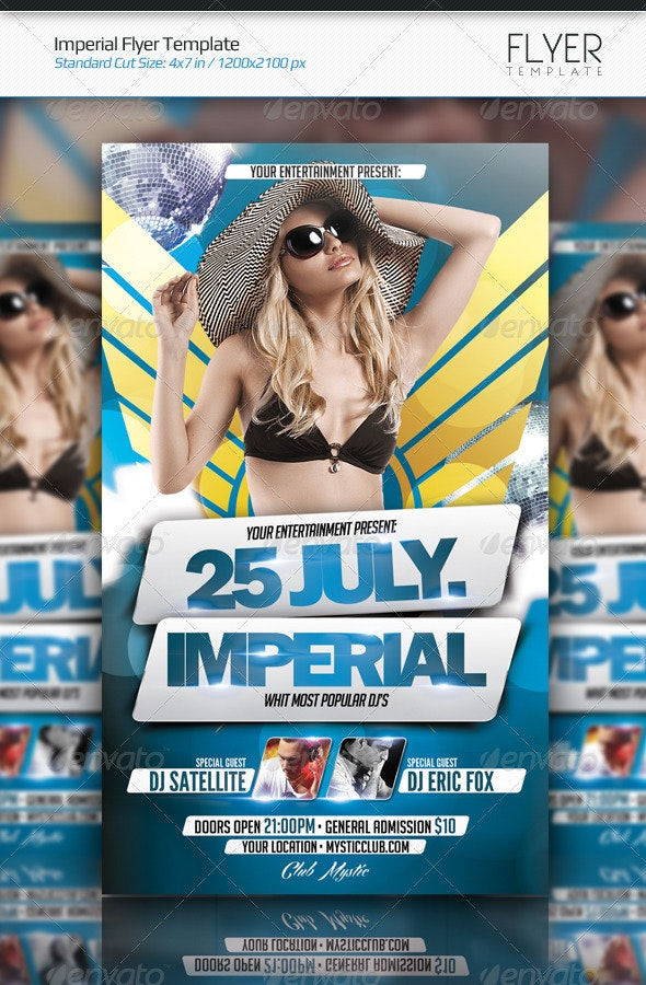 Imperial Flyer Template - Clubs & Parties Events