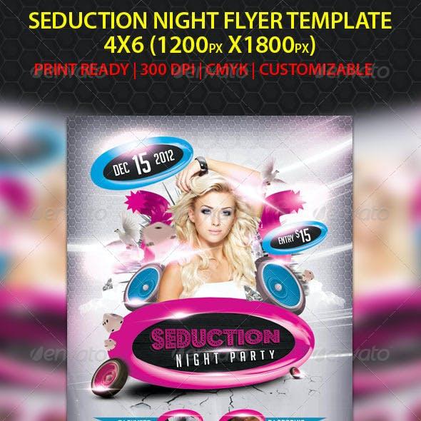 Seduction Night Party Flyer