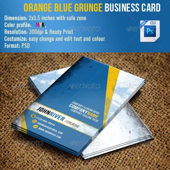 Orange Blue Grunge