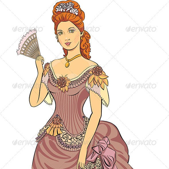 Victorian Fashioned Lady