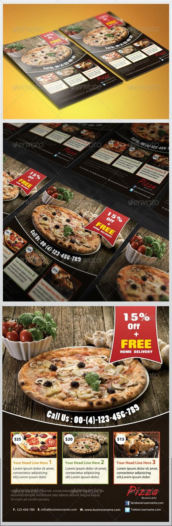 Pizza Flyer - Restaurant Flyers