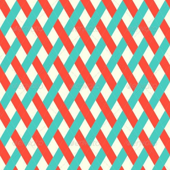 Retro Seamless Wicker Pattern