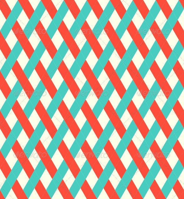 Retro Seamless Wicker Pattern - Patterns Decorative